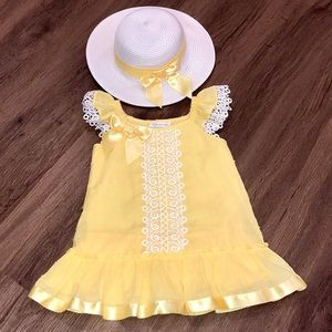 Bonnie Jean Dress & Hat Size 2T